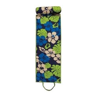 Outdoor Living Floral Blue/Green Rolled Beach Mat