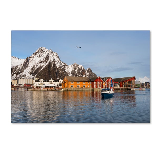 Philippe Sainte-Laudy 'Svolvaer' Canvas Art - Multi