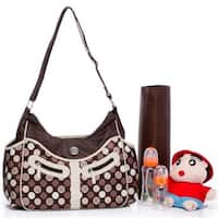Colorland Vicky Brown Polka-dot Hobo Diaper Bag