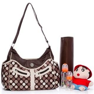 Colorland Vicky Brown Polka-dot Hobo Diaper Bag