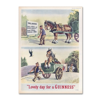 Guinness Brewery 'Lovely Day For A Guinness XI' Canvas Art