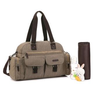 Colorland Multipurpose Khaki Polyester Messenge/Shoulder Diaper Bag