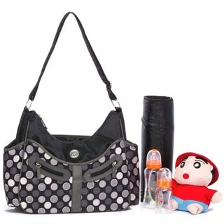 Colorland Vicky Grey Polka Dot Hobo Diaper Bag