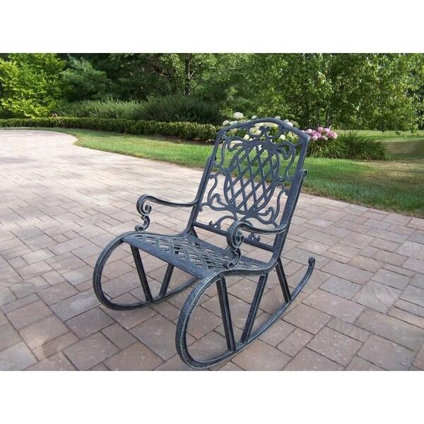 Marvelous Dakota Outdoor Cast Aluminum High Back Rocking Chair Download Free Architecture Designs Xerocsunscenecom