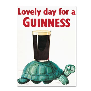 Guinness Brewery 'Lovely Day For A Guinness X' Canvas Art