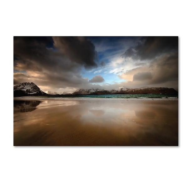 Philippe Sainte-Laudy 'Ramberg Beach' Canvas Art - Multi