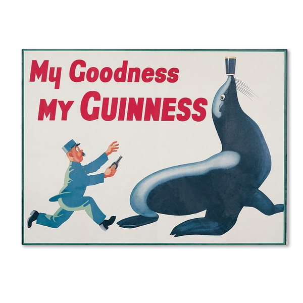 Guinness Brewery 'My Goodness My Guinness II' Canvas Art