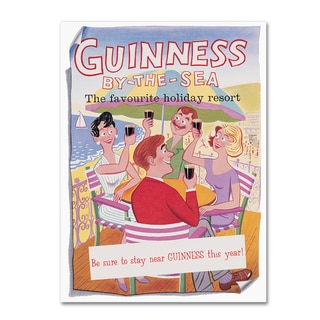 Guinness Brewery 'Guinness By The Sea' Canvas Art