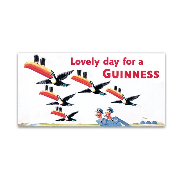 Guinness Brewery 'Lovely Day For A Guinness IX' Canvas Art - Multi