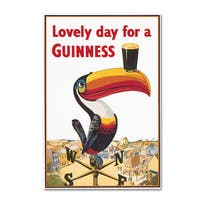 Guinness Brewery 'Lovely Day For A Guinness VIII' Canvas Art - Multi