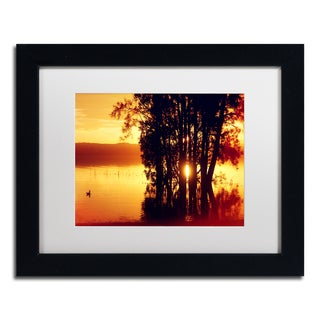 Beata Czyzowska Young 'Lonely at Sunset' Matted Framed Art