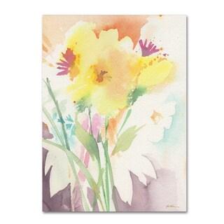 Sheila Golden 'Yellow Flower Blossoming' Canvas Art