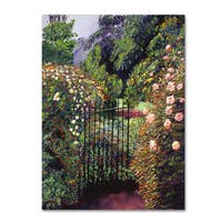 David Lloyd Glover 'Quiet Garden Entrance' Canvas Art
