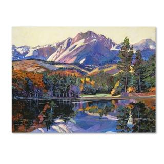 David Lloyd Glover 'Painter's Lake' Canvas Art