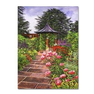 David Lloyd Glover 'Carrington Garden' Canvas Art