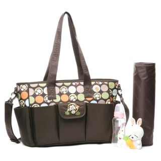 Colorland Waterproof Nylon Mummy Nappy Tote in Monkey Brother