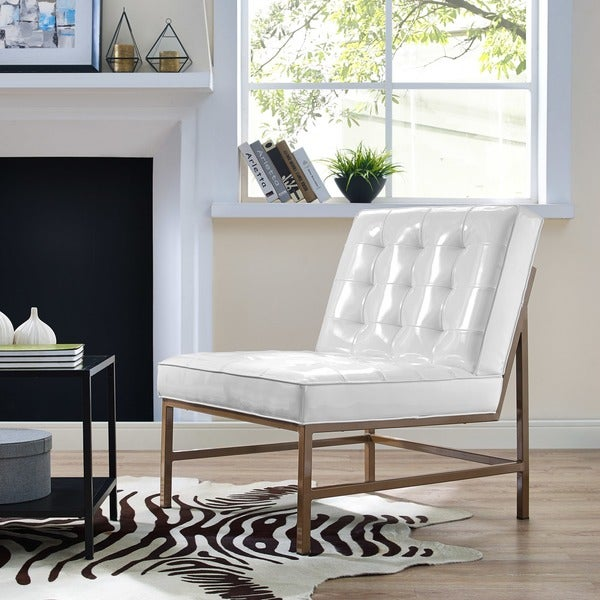 Shop Jed White Patent Leather Chair Free Shipping Today