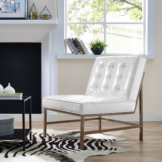 Jed White Patent Leather Chair