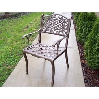 Dakota Outdoor Cast Aluminum Arm Chairs (Set of 4)