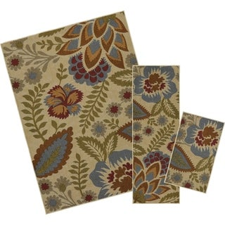 Mohawk Home Soho Crewel Floral Spice (Set Contains: 18 x 30 20 x 60 and 60 x 84) - 5' x 7'