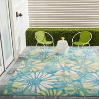 """Nourison Home and Garden Blue Indoor/ Outdoor Area Rug (8'6 x 8'6) - 8'6"""" x 8'6""""square"""