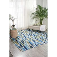 Waverly Sun N' Shade Bits and Pieces Seaglass Indoor/ Outdoor Area Rug by Nourison (6'6 x 6'6) - 6'6 x 6'6