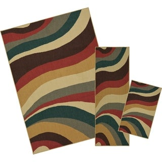 Mohawk Home Soho Wave Impression Multi (Set Contains: 18 x 30, 20 x 60 and 60 x 84)