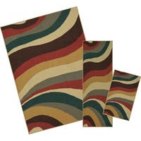 Mohawk Home Soho Wave Impression Multi (Set Contains: 18 x 30 20 x 60 and 60 x 84) - 5' x  7'