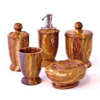 Multi Onyx 5-piece Bathroom Accessory Set
