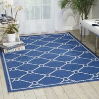 Waverly Sun N' Shade Rope Navy Indoor/ Outdoor Area Rug by Nourison (7'9 x 10'10)