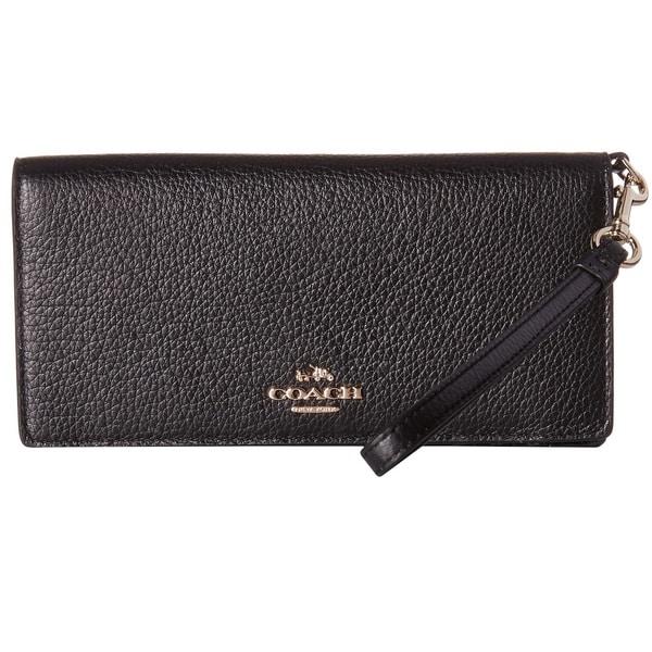 Coach Black Leather Slim Wallet