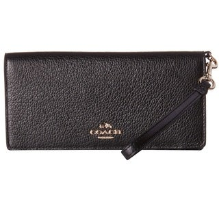Coach Black Leather Slim Wallet