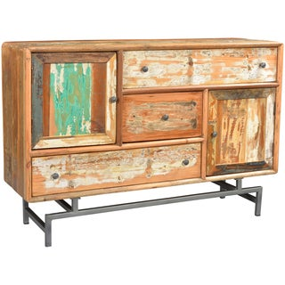 Wanderloot Silverlake 2-door, 3-drawer Distressed Paint Sideboard with Metal Legs
