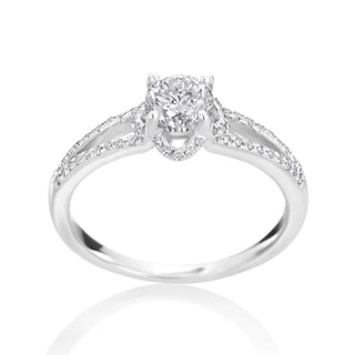 Andrew Charles 14k White Gold 7/8ct TDW Diamond Engagement Ring (H-I, SI2-I1)