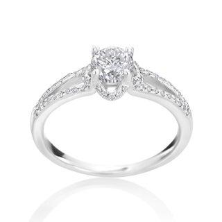Andrew Charles 14k White Gold 7/8ct TDW Diamond Engagement Ring