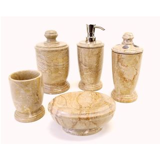 Nature Home Decor Atlantic Collection Sahara Marble 5-piece Bathroom Accessory Set