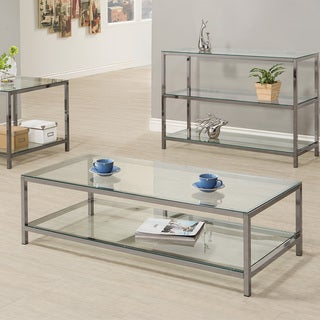 "Coaster Company Nickel Coffee Table - 54"" x 23"" x 15"""