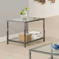 Coaster Company Nickel and Glass End Table