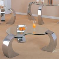 Coaster Company Silver Glass Coffee Table