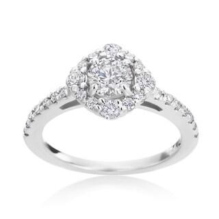 Andrew Charles 14k White Gold 1 1/6ct TDW Diamond Ring