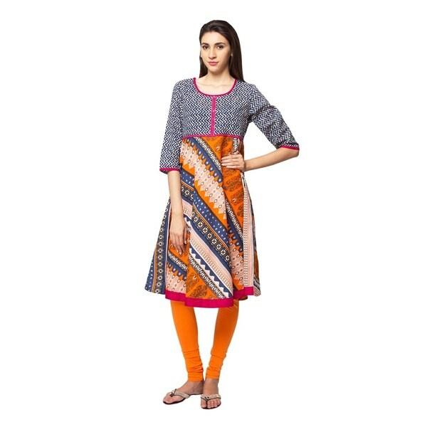 74d22c882b5 Handmade In-Sattva Ethnicity Women's Indian Trendy Multi-Print Kurta