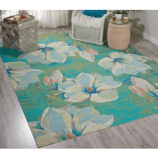 Nourison Home and Garden Light Green Indoor/ Outdoor Area Rug (7'9 x 10'10)