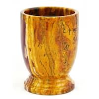 Nature Home Decor Atlantic Collection Multi Brown Onyx Bathroom Tumbler
