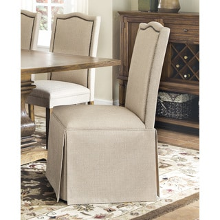 Tan Parson Skirted Chair