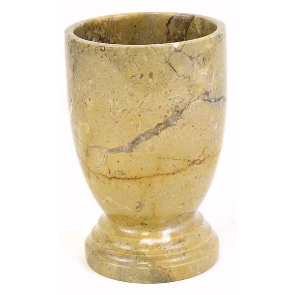Nature Home Decor Atlantic Collection Sahara Beige Marble Tumbler