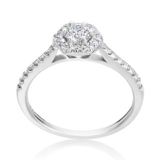 Andrew Charles 14k White Gold 5/8ct TDW Diamond Engagement Ring (H-I, SI2-I1)