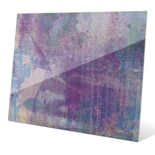 Mauve Glint Graphic on Glass