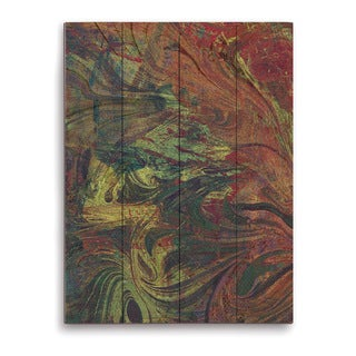 Amber Swirl Graphic on Wood