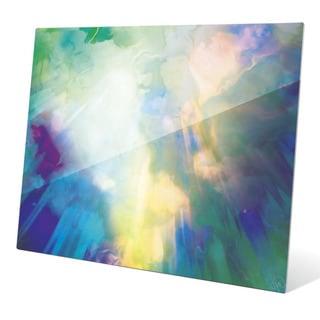 Viridian Burst Graphic on Glass