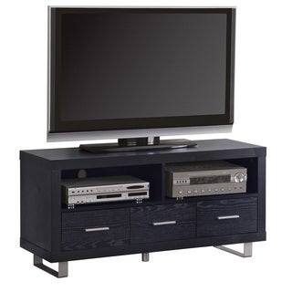 Coaster Company Black Wood 3-drawer TV Console